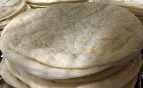 stack of sourdough tortillas