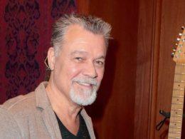 Eddie Van Halen with guitar