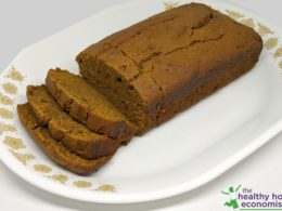 sprouted pumpkin bread sweetened with fruit and no sugar on a platter