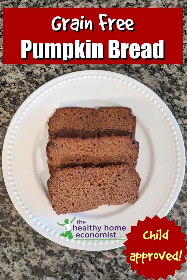 pumpkin loaf slices on a plate