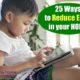 little boy using wifi laptop