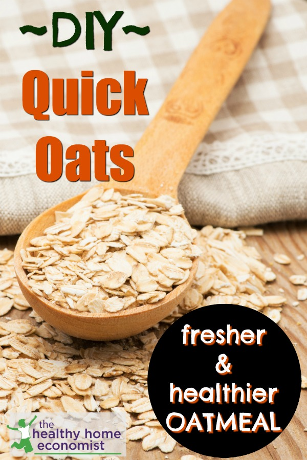 whole grain instant oats on a cutting board
