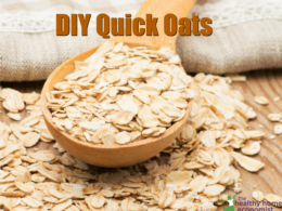 homemade instant oats on a spoon