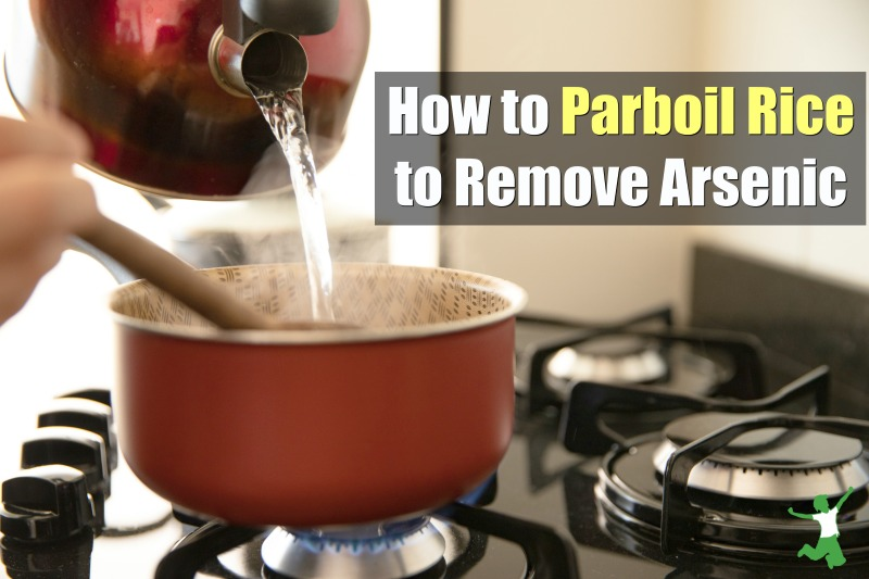 parboiled rice on the stovetop
