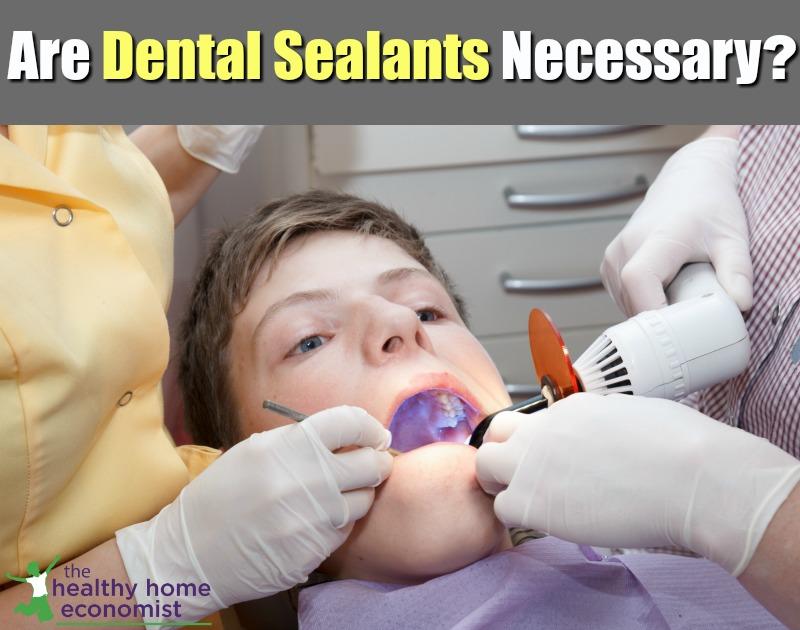 boy having dental sealants applied to teeth