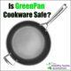 greenpan nonstick frying pan on white background
