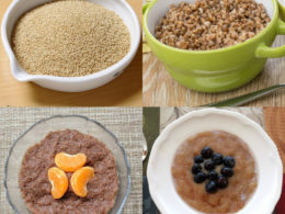 gluten-free hot breakfast cereals in bowls
