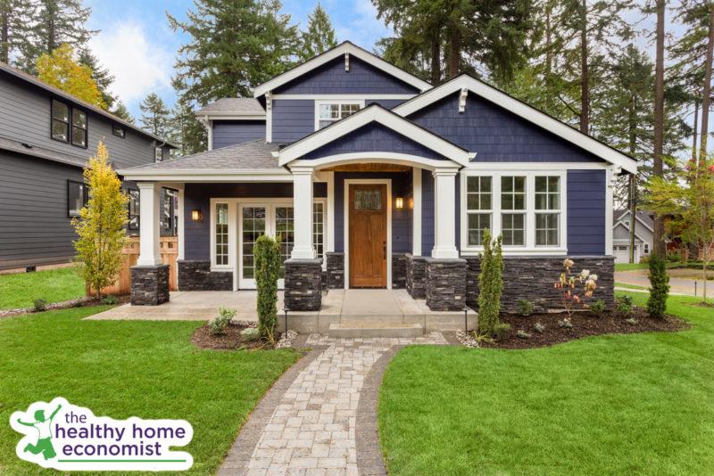 healthy home with a wooden door