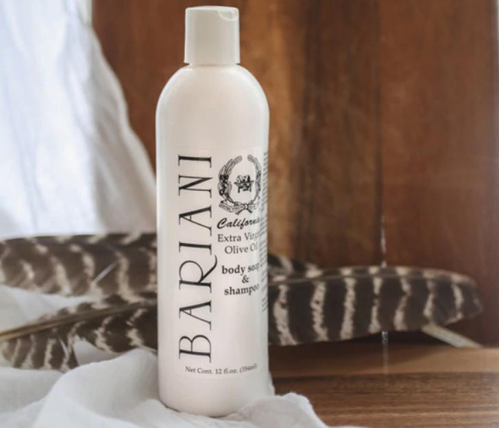bottle of natural shampoo