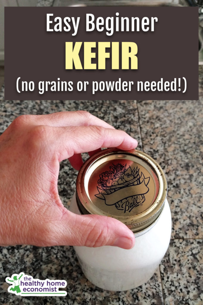 quart of whole milk kefir using no starter culture