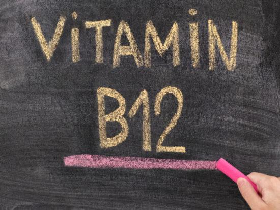 vitamin b12 written on a chalkboard