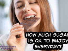 woman holding the maximum amount of sugar per day that is healthy to eat