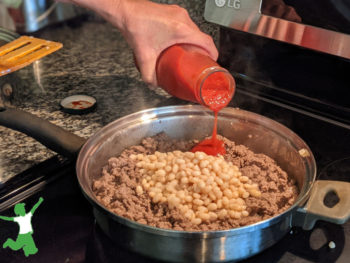 pan of keto chili on the stovetop