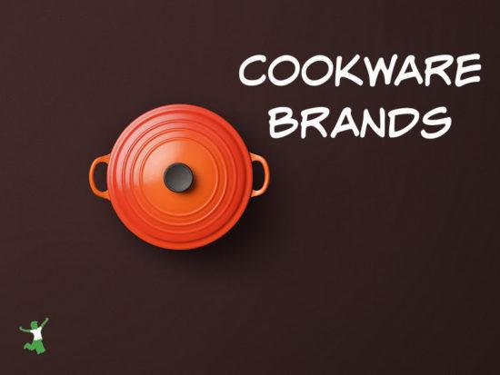 safe enameled pot on brown background
