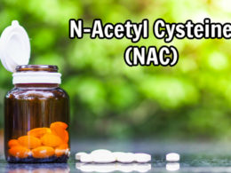 bottle of NAC with natural background